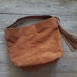 carlos Santana brown suede purse